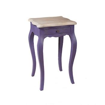 Table de chevet Baroque manguier violet pop 66cm ODYSSEE