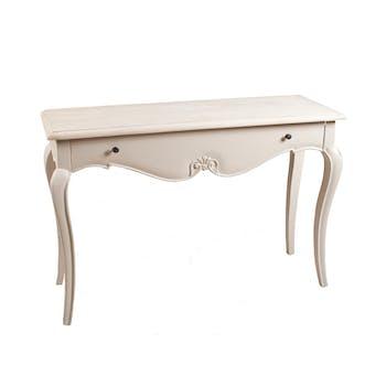 Console 1 tiroir beige Argile 110cm ODYSSEE