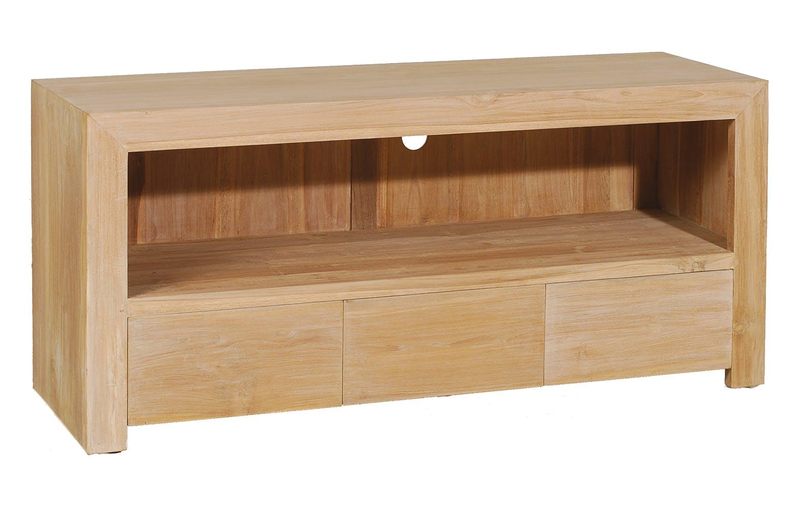 Meuble tv 3 tiroirs 120cm DIANE