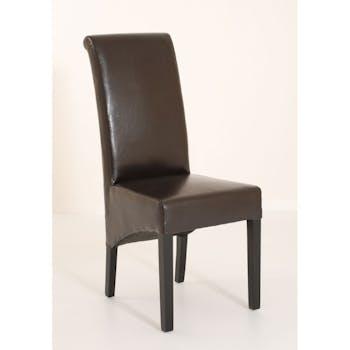 Chaise moderne revêtement chocolat BRITISH