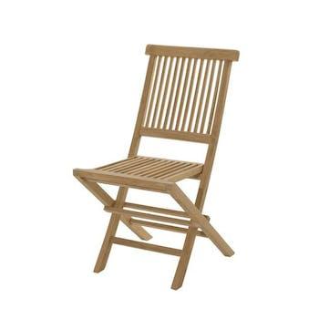 Chaise de jardin en Teck brut pliante 90cm SUMMER