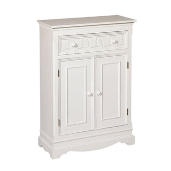 Buffet bois blanc 2 portes 1 tiroir 64x90cm LISE