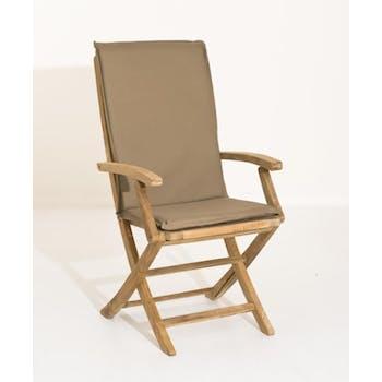 Coussin de fauteuil de jardin imperméable Bronze 101x3x48 WALTER