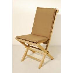 Coussin de chaise de jardin imperméable Bronze 90x3x41cm Acrylique SUMMER