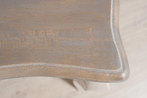 Table basse Blanche Baroque Manguier 115x66x46cm ODYSSÉE