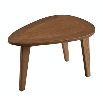 Petite table basse galet bois cannelle 64x44x42 FANNY
