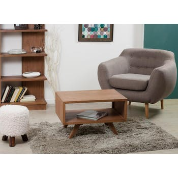 Table basse rectangulaire double plateau 70x50cm FANNY