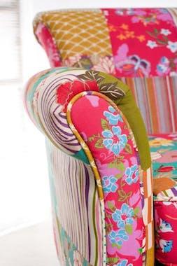 Fauteuil patchwork tissu BOHEME 75X76X79cm