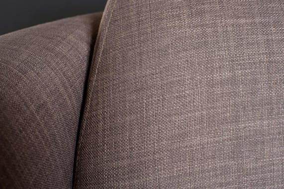 Fauteuil tissu couleur havane 85x85x69cm PASTEL