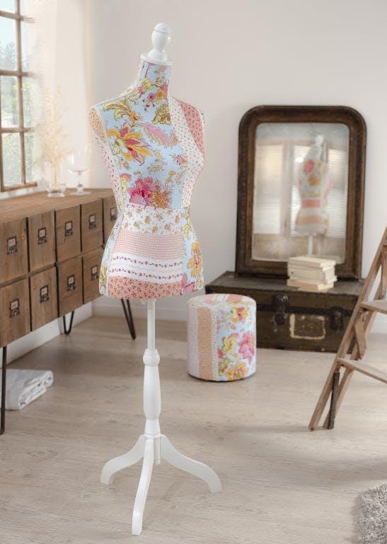 Mannequin couture fleuri multicolore 40x36x165cm VALENTINE