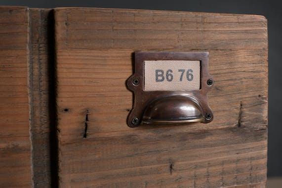 Console 1 tiroir pin recyclé 120,5x40,5x79,5cm ATELIER