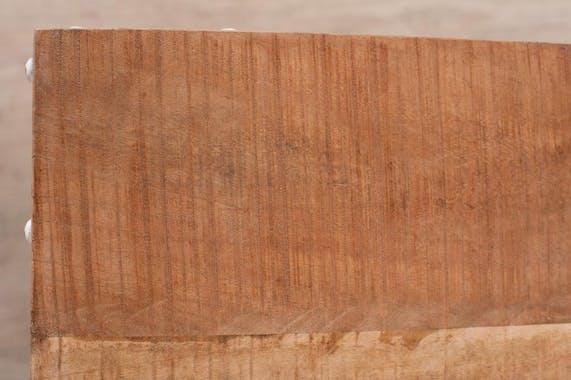 Console drapier manguier et métal 2 plateaux 121x41 RALF