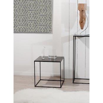 Bout de canapé carré métal 45x45 RALF
