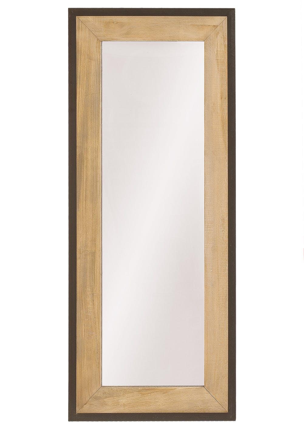 Miroir rectangulaire Industriel bois et métal LALI H 135 X Larg 58