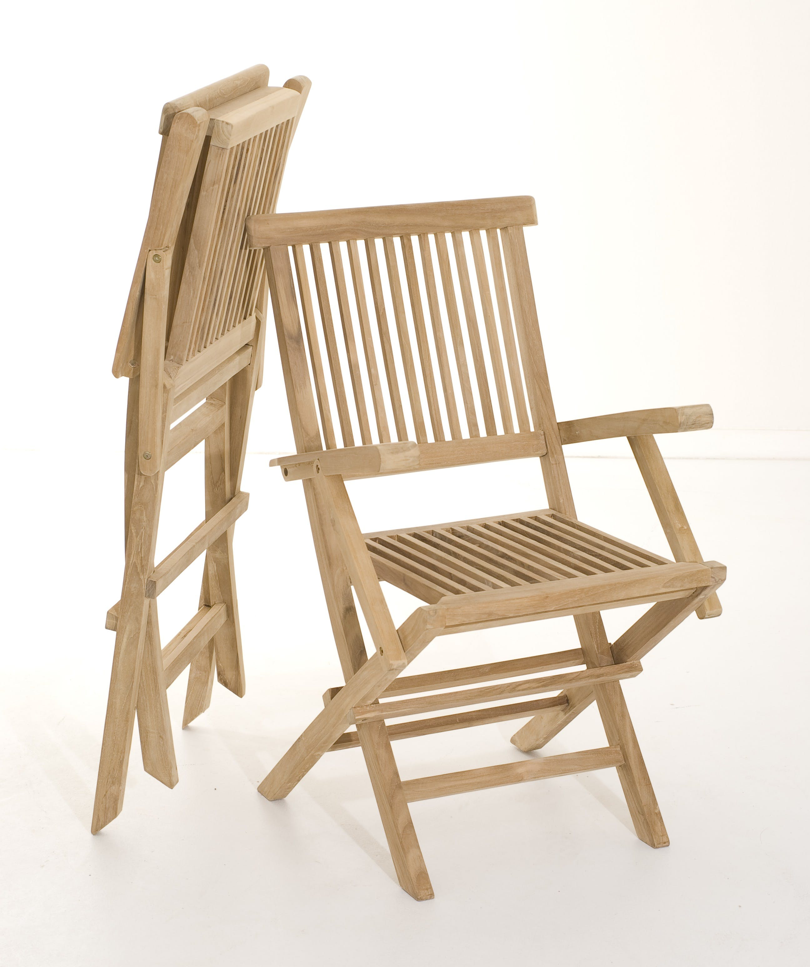 Lot de 2 fauteuils de jardin pliant Java en Teck 90 cm SUMMER