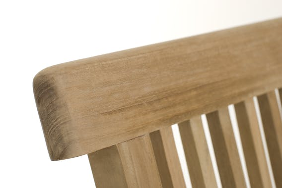 Salon de jardin en teck Table carrée 60 cm et 2 chaises Java pliantes SUMMER