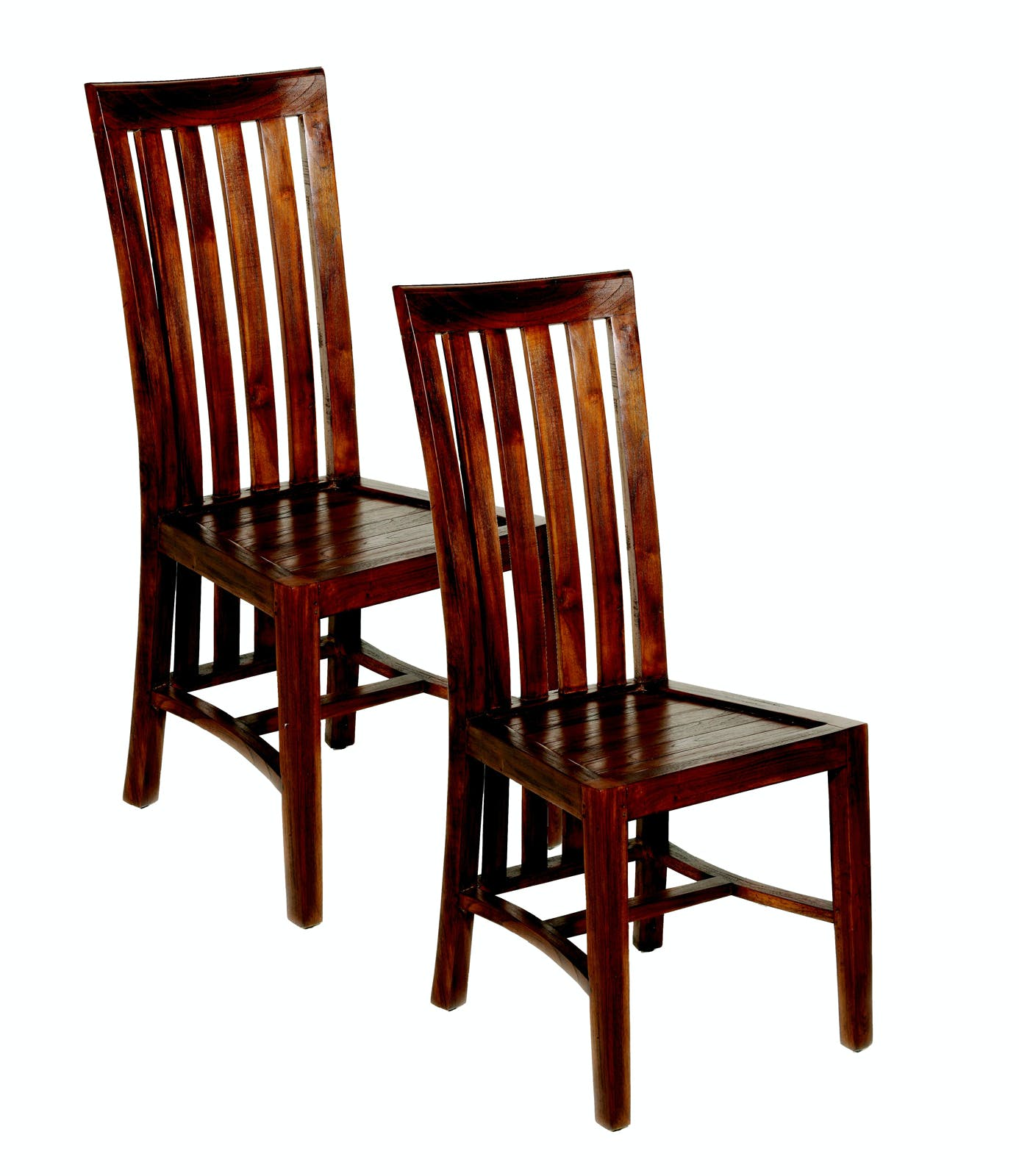 Lot de 2 chaises en Mindi 45x61x104cm LOLA