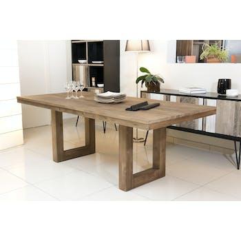 Table de repas en Teck recyclé 220x100x78cm SWING