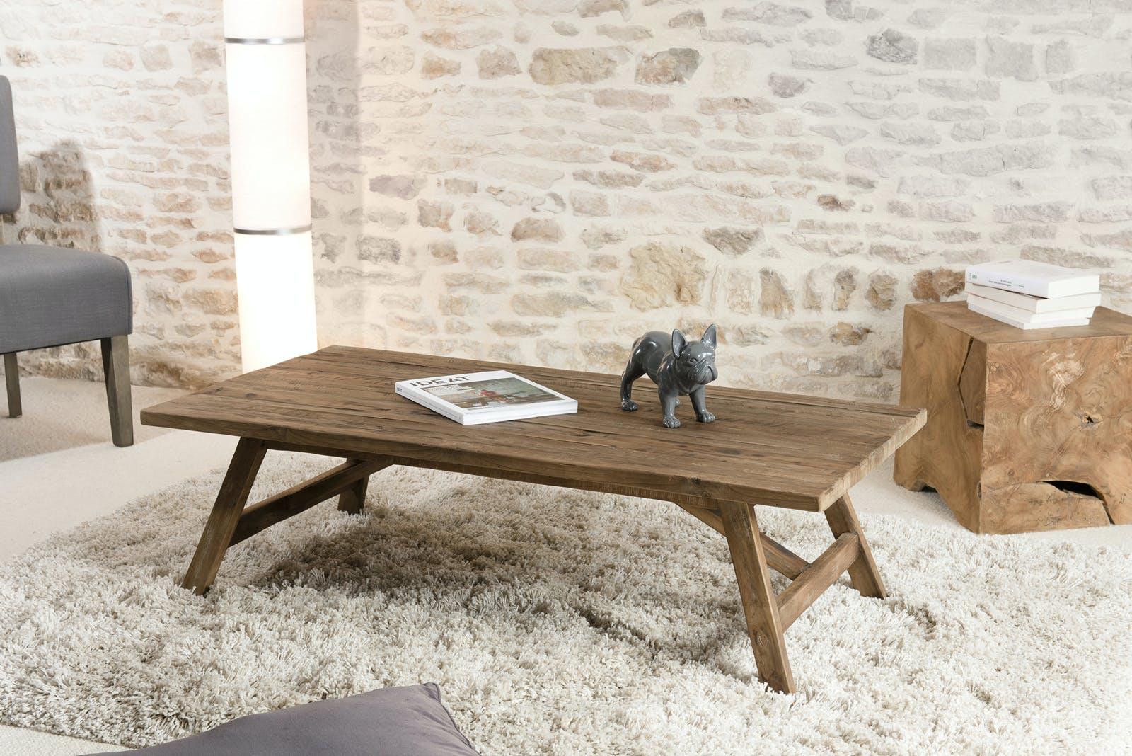 Table basse en Teck recyclé 120x60x36cm SWING