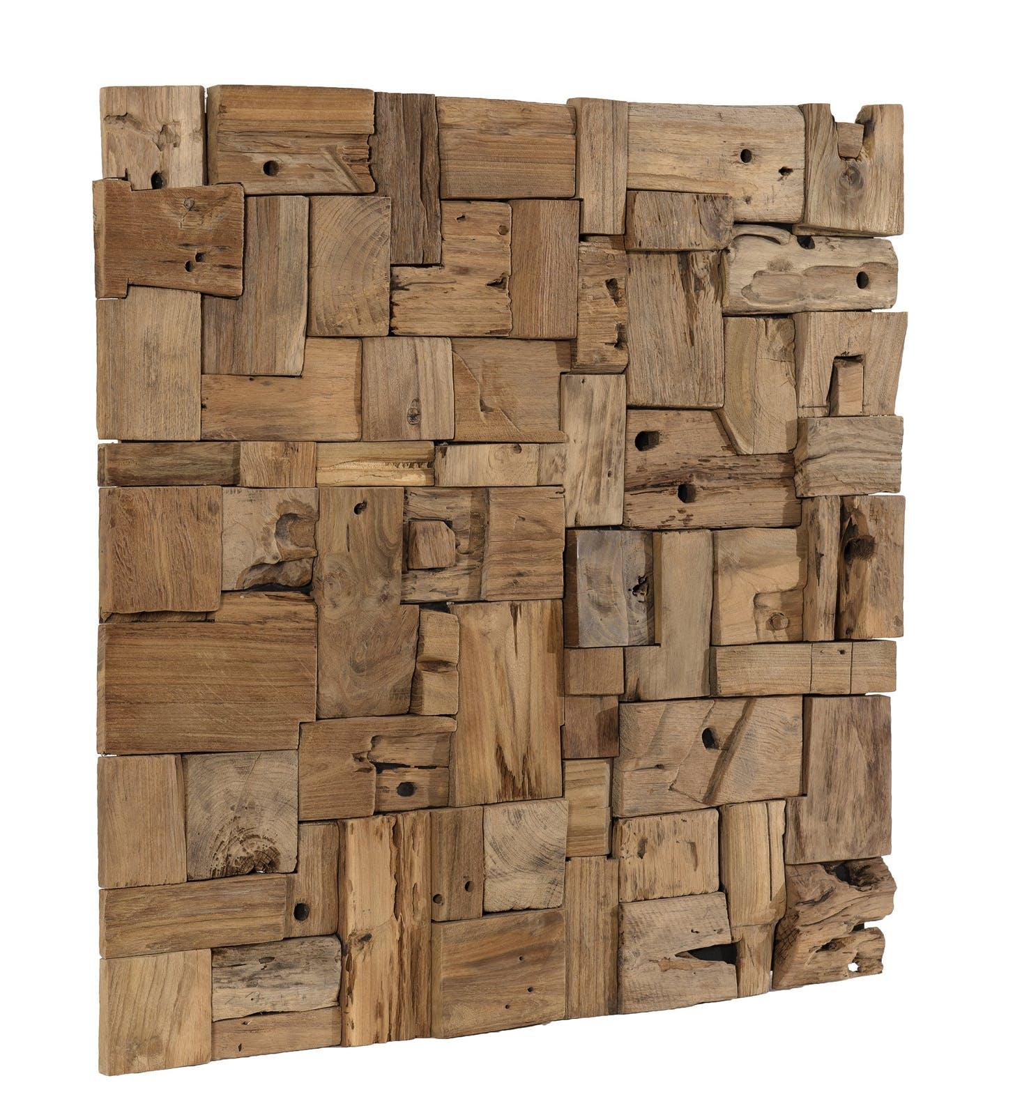 d coration murale en teck bois flott mod le n 8. Black Bedroom Furniture Sets. Home Design Ideas