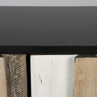 Buffet enfilade bois d'acacia métal noir CADIX