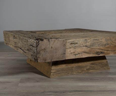 Table basse carrée en Teck recyclé 105x105x36cm MATT