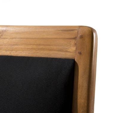 Fauteuil exotique en Teck et Coton noir 61x63x81cm DIKA