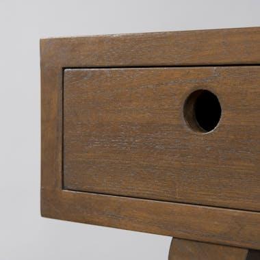 Bureau en bois exotique couleur cannelle 3 tiroirs 115x50x73cm FANNY