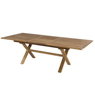 Table de Jardin extensible Teck 180/240x100x75cm SUMMER ref. 30020807