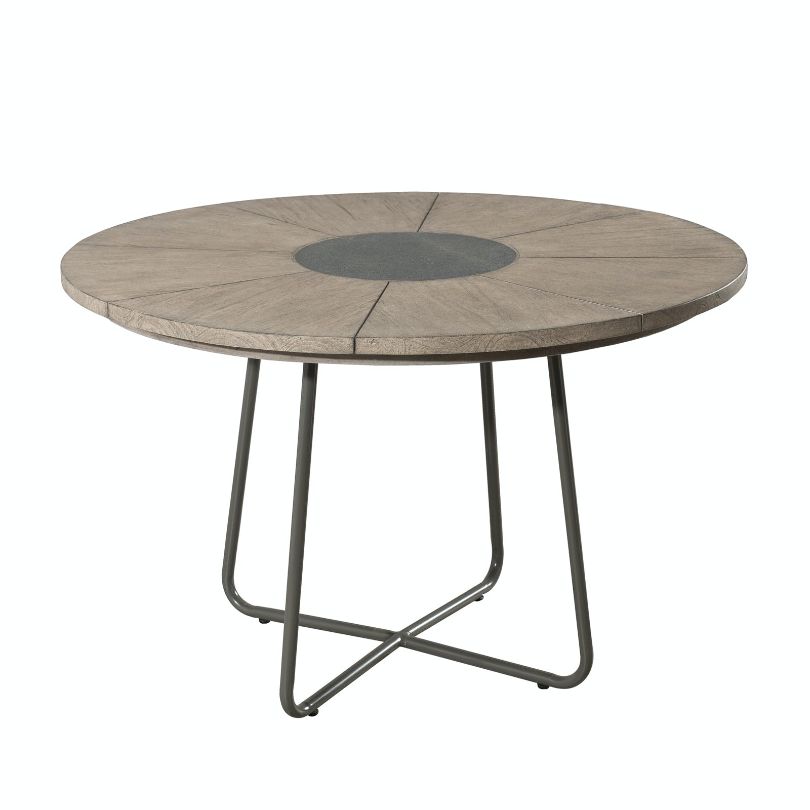 Table de Jardin en Teck Pierre D120cm DETROIT ref. 30020816