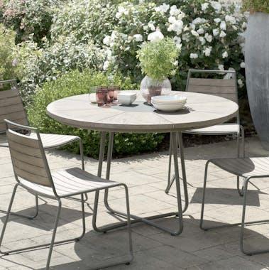 Table de Jardin en Teck Pierre D120cm DETROIT ref. 30020816