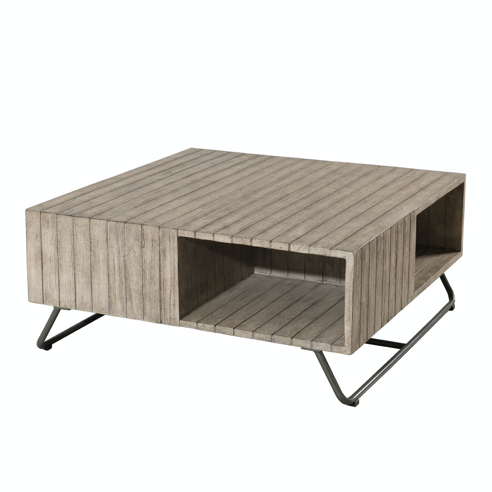 Table basse Jardin Teck carrée 90x90cm DETROIT ref. 30020819
