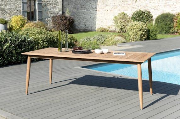 Table de Jardin Teck 220x100x76 BERGEN ref. 30020829