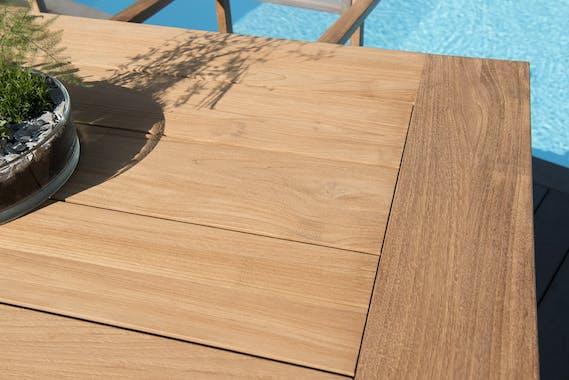 Table de Jardin Teck 220x100x77cm BERGEN ref. 30020830