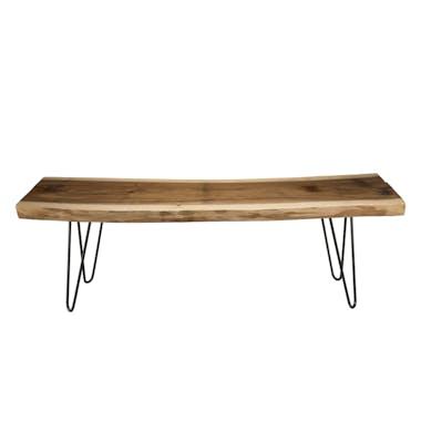 Banc en bois de mungur pieds épingle métal 160x45 cm JAIPUR