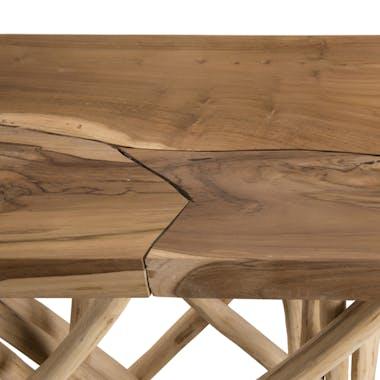 Meuble console bois flotté teck 120x39 cm JAIPUR