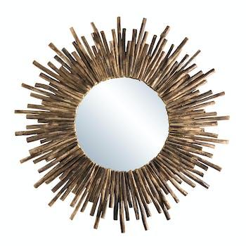 Miroir soleil teck Jaipur