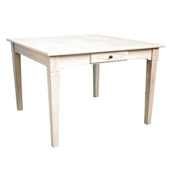Table de repas hévéa 110x110x76cm TESSA