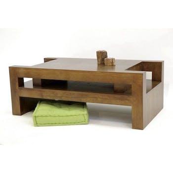 Table basse moderne hévéa 110x40cm MAORI