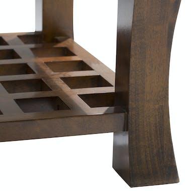 Table basse vitrée 60x60cm MAORI