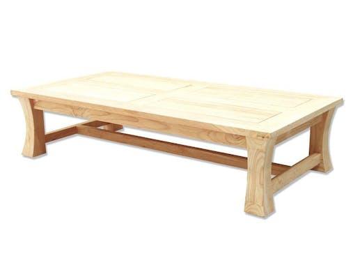 Table basse hévéa 125x65cm MAORI