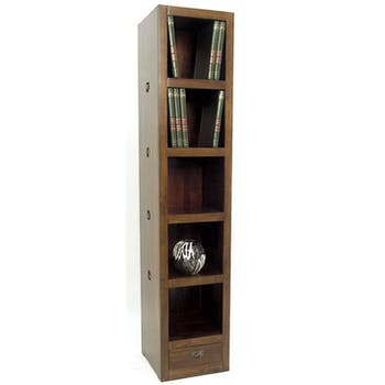Bibliothèque colonne hévéa H196cm TESSA
