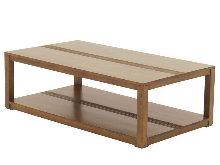 Table basse hévéa double plateau 125x70cm GALA