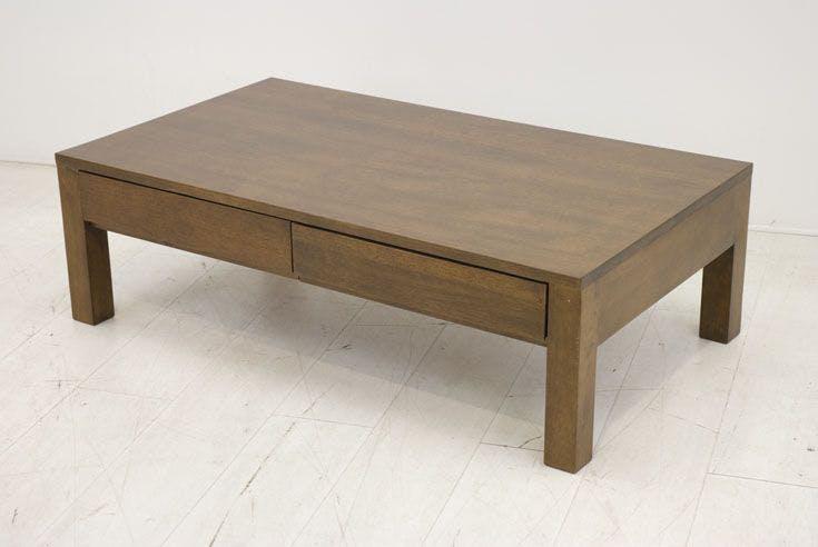 Table basse hévéa 4 tiroirs 115X65cm OLGA