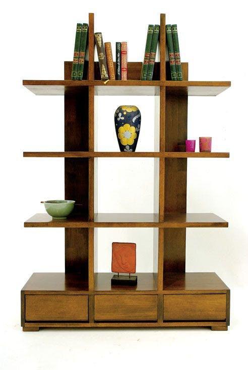 Bibliothèque étagère moderne hévéa 172cm OLGA