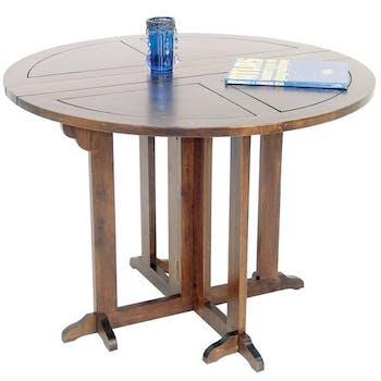 Table à manger ronde pliante Ø100 TRADITION