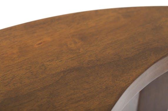 Table basse Ying Yang hévéa D80cm MAORI