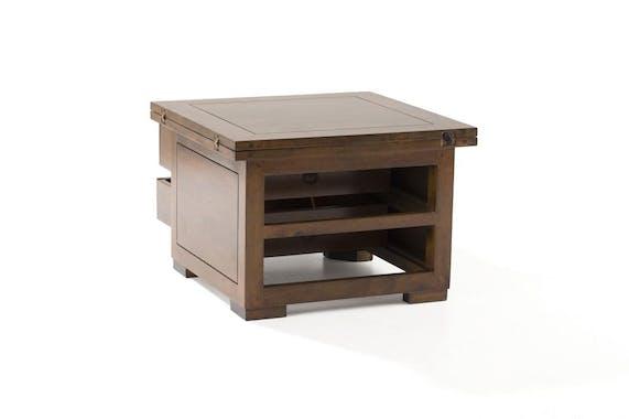 Table basse extensible hévéa 60/120cm MAORI