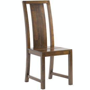 Chaise coloniale bois hévéa massif GALA