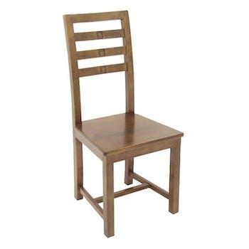 Chaise exotique hévéa TESSA